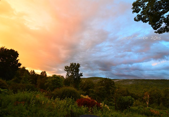 Flower Hill Farm Retreat Sky at Sunset